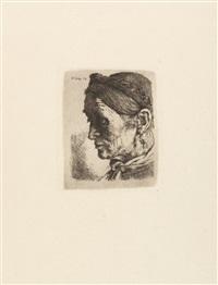 bäuerin mit niedergeschlagenen augen - bildnis der therese bauer by wilhelm maria hubertus leibl