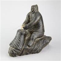 man pulling a walrus by thomasie angutigirk