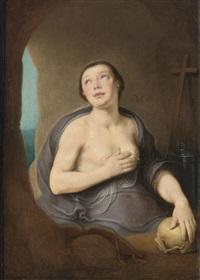 the penitent magdalene by cornelis cornelisz van haarlem