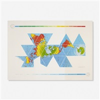 dymaxion air-ocean world map by buckminster fuller