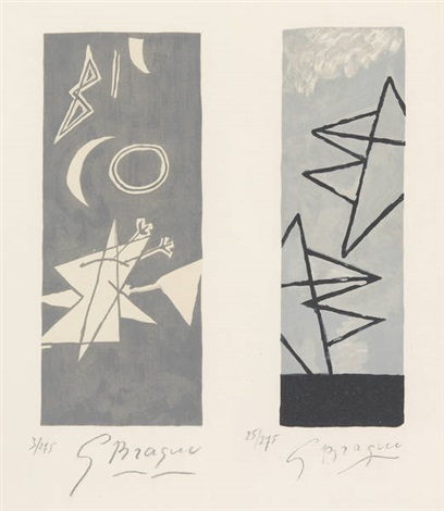 ciel gris 1 et ciel gris 2 2 works by georges braque