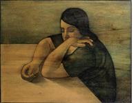 leaning woman by louay kayyali