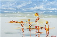 beach scene by louise mansfield