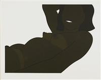 great american brown nude cut-out by tom wesselmann