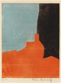 composition rouge, grise et noire by serge poliakoff