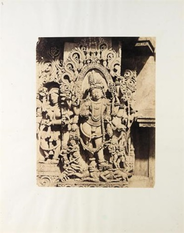 halebid sculptural study hoyaslesvara temple by richard banner oakeley