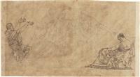 disegno tratto da un episodio dell'andromaque di racine by jacques-louis david