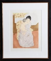 maternal caress by mary cassatt