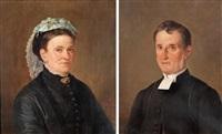 kontraktsprosten i konga härad, kyrkoherden i tingsås carl gustaf mozart (1825-1917) och hans hustru louise (1831-1911) (pair) by bengt nordenberg