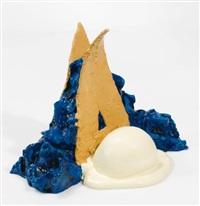 paradise pies (ii and vi) - ii, 3/6 blue by coosje van bruggen and claes oldenburg