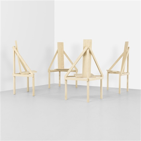 a-chairs (set of 4) by steven holl