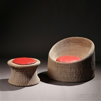 lounge chair and ottoman (set of 2) by eero aarnio