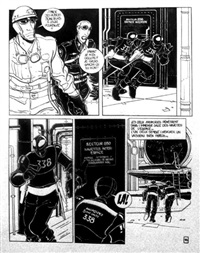 captain futur, planche 16 (for album) by serge clerc