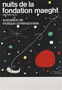 nuits de la fondation maeght. exposition de musique contemporaine by joan miró
