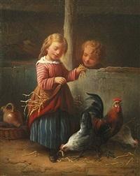 im hühnerstall by hendrick joseph dillens