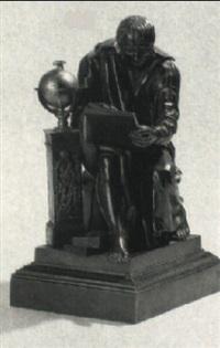 siddende, skrivende videnskabsmand by jean-marie pigalle