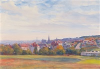 xiii. bezirk, lainz vom roten berg by paul robert passini