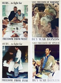 freedom serie (4 works) by norman rockwell