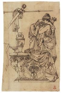 matrona romana consola un'ancella by jacques-louis david