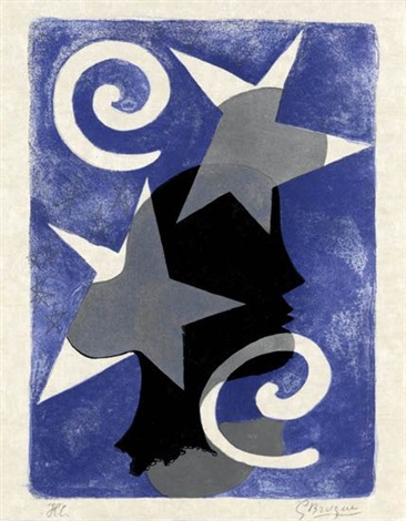 lettera amorosa profil 3 others from same suite 4 works by georges braque