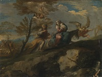 rest on the flight into egypt by ranieri del pace