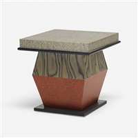 rosso grigio e nero occasional table from the bharata series by ettore sottsass