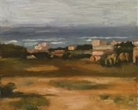 paesaggio (marina all'ardenza) by giorgio morandi