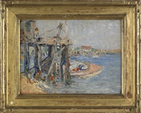 harbor scene by anna w. speakman