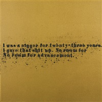 no room (gold) #31 by glenn ligon