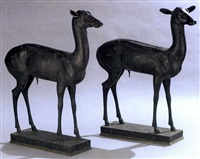 deer (+ another similar; pair) by sabatino de angelis