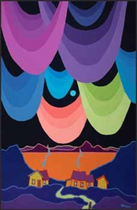 aurora borealis by ted harrison
