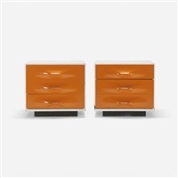 df-2000 nightstands (pair) by raymond fernand loewy