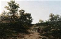 pastoral scene by r. e. damoye