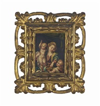 the madonna and child with the infant saint john the baptist by perino del vaga