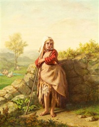 peasant girl by alexandre antigna
