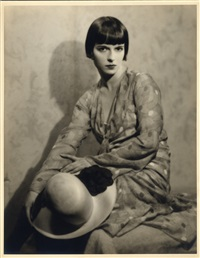 louise brooks custom portrait by hal phyfe