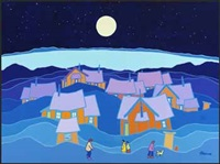 still, silent northern light by ted harrison