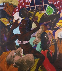 pac-man (the consumers consumed) by robert h. colescott
