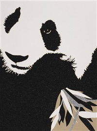 panda and bamboo by rob pruitt