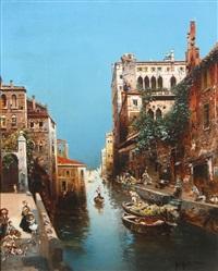 venice canal scene by robert alott
