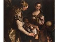 sacra familia by benedetto caliari