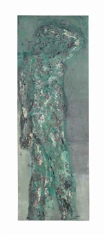 portrait of iris clert by leon golub