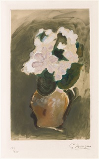 fleurs violets by georges braque