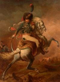 officier de chasseurs à cheval de la garde impériale chargeant by théodore géricault