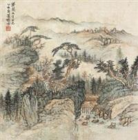 松溪草庐图 by xiao xun
