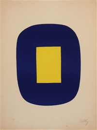 #6 blue and yellow by ellsworth kelly