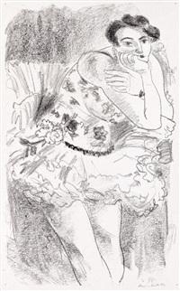 danseuese debout, accoudée (from dix danseuses) by henri matisse