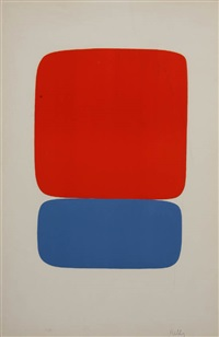 #6 red/orange and blue by ellsworth kelly