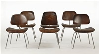 modern side chairs (set of 6) by herman miller