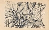 simultaner tod einnes mannes im flugzeug und in der eisenbahn by kazimir malevich